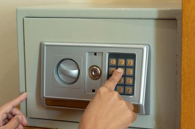 caméra de sécurité coffre clé de rechange